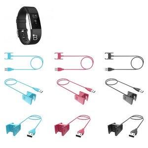 Image 5 - استبدال شاحن يو اس بي ل Fitbit Charge2 سوار ذكي كابل شحن ل Fitbit تهمة 2 3 معصمه حوض محول 3 ألوان