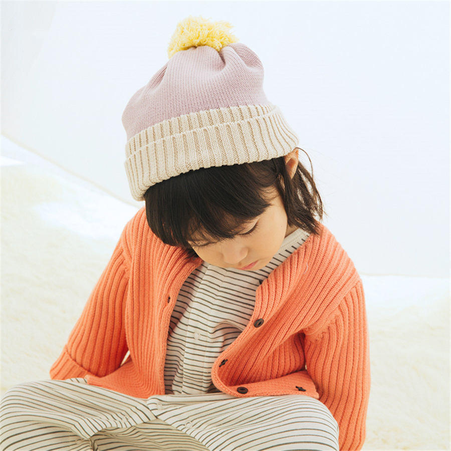 ФОТО Winter Warm Knitted Hat Baby Cap For Boys Girls Toddler Beanie Newborn Soft Cute 2016 Cotton Knitted Baby Hat Autumn 70D0491