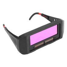 Óculos de solda com escurecimento automático, 1 par de óculos de proteção de segurança, máscara de solda, óculos de proteção automotiva