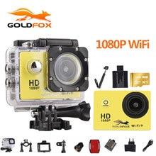 Goldfox Eylem Kamera WiFi Kamera HD 30 M spor DV 2.0 'ekran 1080 p su geçirmez gitmek pro kamera Mini Kamera Kaydedici Helemt kam
