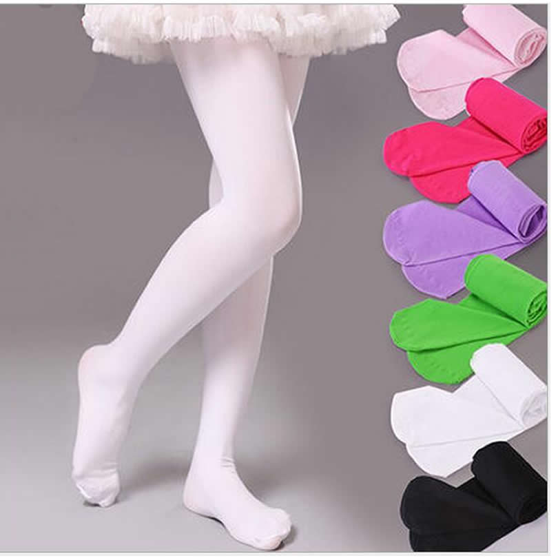 Candy Color Cotton Baby Tights Girls Pants Sport Dancing Tights Velvet Girls Leg Warmers Panty Hose Calcetines Ninas 4-9 Years