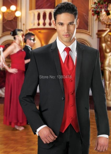 Fashion Men Suits Good Price Black Groom Tuxedos Best Man Groomsmen Wedding