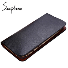 Leather Wallets Long Men Clutch Bag 2017 Brand Male Wallet Zipper Purse Clutches Men Card Holders