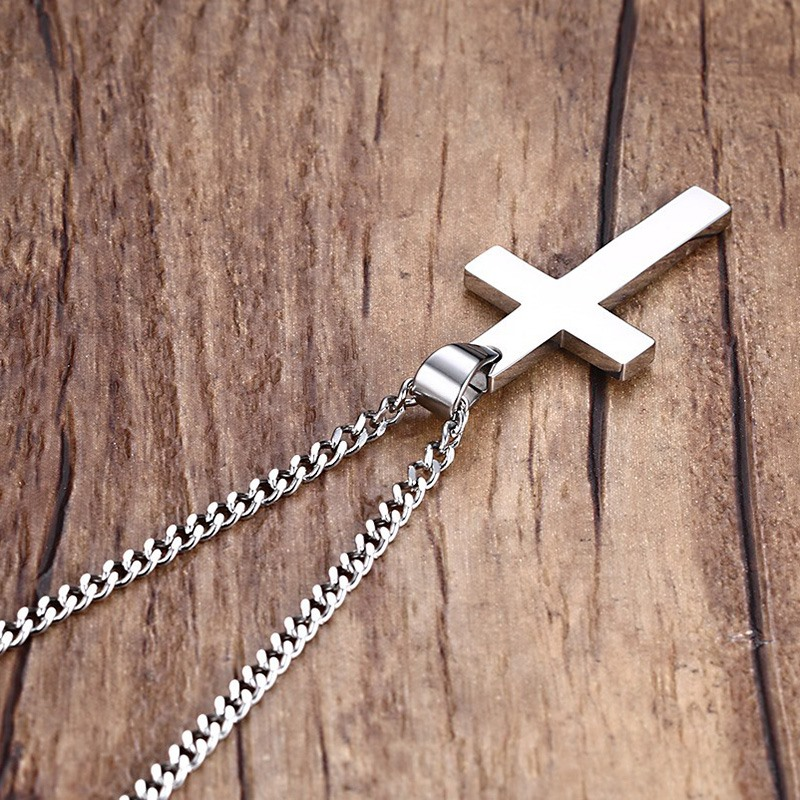 Mens stainless steel cross pendant necklace mens stainless steel cross pendant necklace aloadofball Images