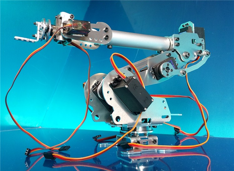 Industrial Robot with Aluminum Alloy 6-Axis Mechanical Arm and Robot Arm and 7-Servos