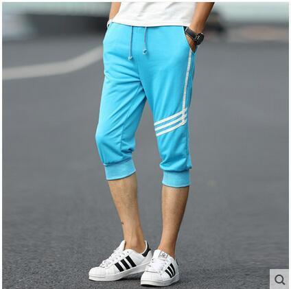 #3715 Capri pantalones de los hombres pantalones Delgados de Verano 2016 pantalones Casuales 3XL Basculador pantalones Pantalones hombre pantalones Harén hombres 6 color