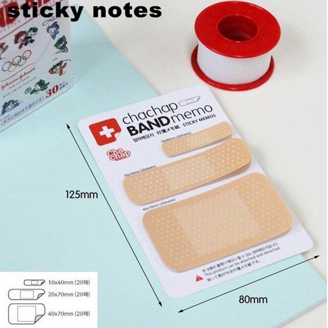 1 шт. Милый Band Aid Серии Memo Pad Пост-Это Наклейки Sticky Notes Блокнот Kawaii Канцтовары для Офиса