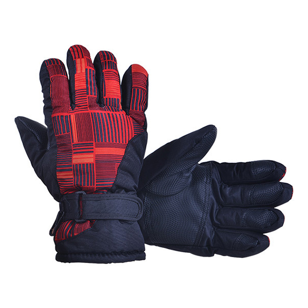 Man Woman Winter Outdoor Exercise Waterproof Thicken Riding Skiing Gloves(red)