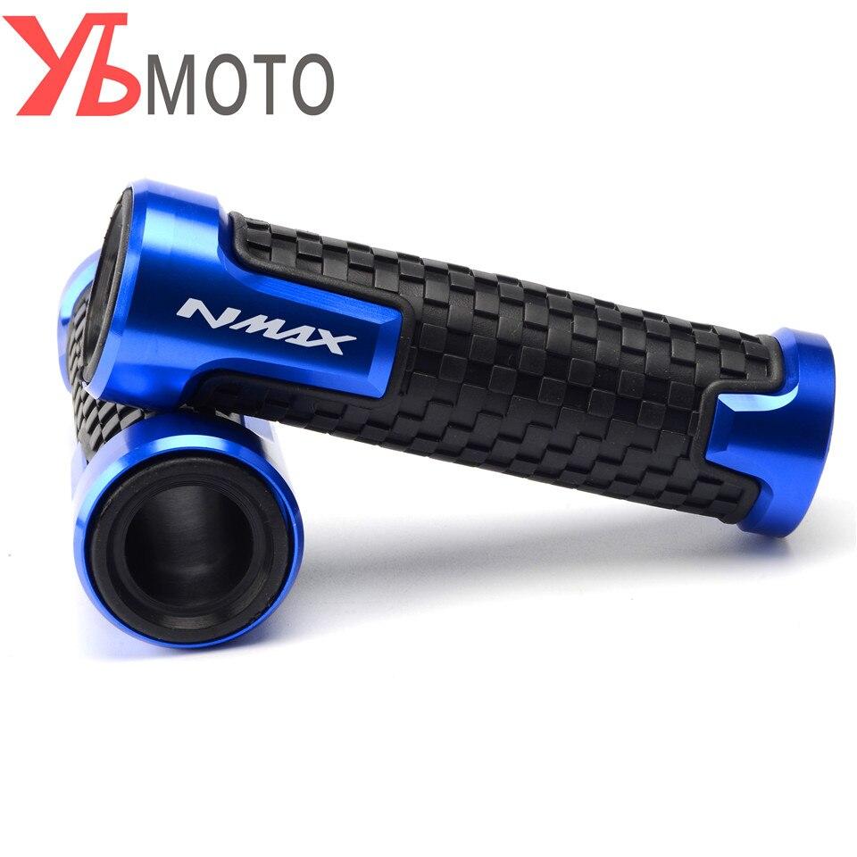 2018 NEW LOGO N-MAX 7/8'' 22MM CNC Motorcycle Handle Grips Racing Handlebar Grip For YAMAHA NMAX 155 2015 2016 2017