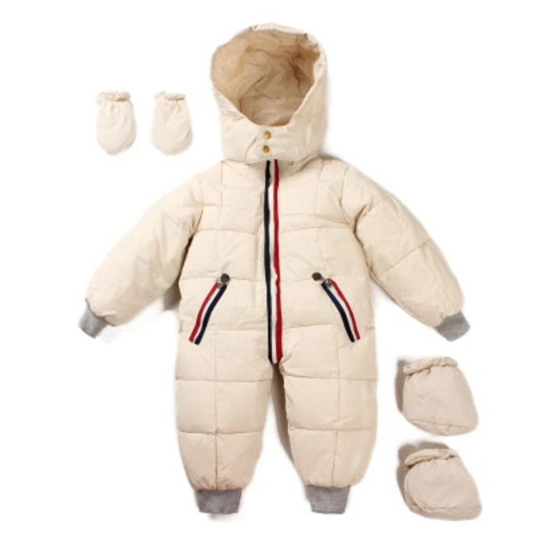 ФОТО 2016 Winter 0~24M Baby Snowsuit Outwear Coats Baby Boys Girls Rompers Hooded Snow Wear Clothes Newborn Clothing Sets V49