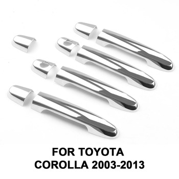 ABS Chrome Door Handle Cover Trim for Corolla 2003-2013 for Toyota Camry 2002-2006 for Rav4 2001-2008 for Vios for Yaris image