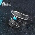 Мужское перьевое кольцо Beier, кольцо из нержавеющей стали 316L, высокое качество, модные ювелирные изделия, LLBR8-374R