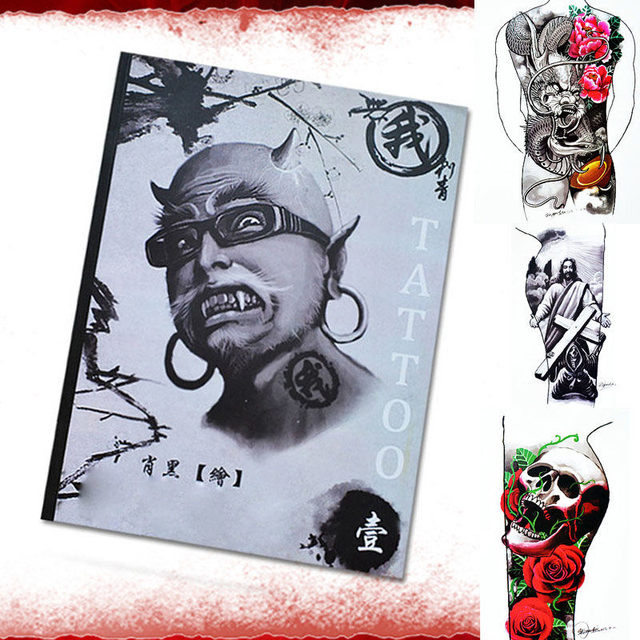 100 Pages A4 For Arm Leg Full Back Body Tattoo Flash Art Design ...