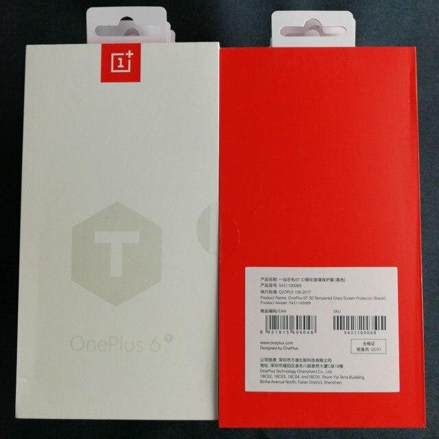Oneplus 6t vidro 3d cobertura completa vidro temperado original 100% da empresa oneplus protetor de tela para um mais 6t oneplus 6t