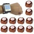 Беспроводной Ресторан Пейджер Coaster Пейджинговой Системы с 1 Часы Приемника + 10 Кнопку Вызова Пейджера Гость Часы Официант Caller F4428A