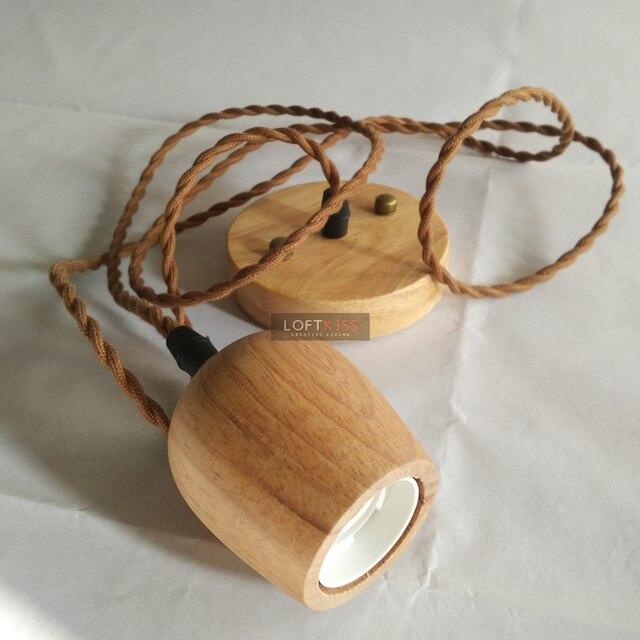 Kreative Holz Pendelleuchte Suite Eichenholz Lampenhalter Holz Lampensockel  Massivholz Pendelleuchten