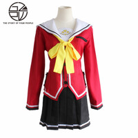 Animation Charlotte uniformes cosplay costume complet costume de marin (veste + jupe + bow tie) S-XL