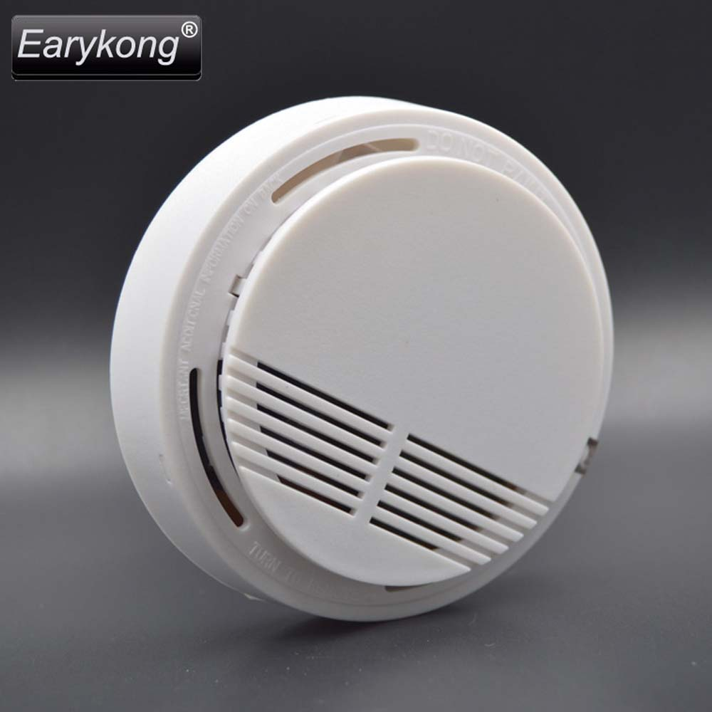 big promotion wireless smoke detector fire alarm 433mhz for home burglar gsm alarm system for. Black Bedroom Furniture Sets. Home Design Ideas