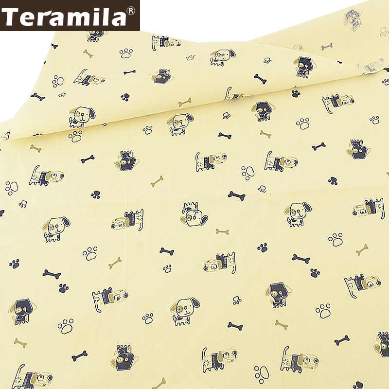 Teramila 100% tkanina bawełniana typu diagonal tekstylia domowe DIY Patchwork szycie ubrań Tissu Tecido pies Pet Style Tela pikowania dekoracji