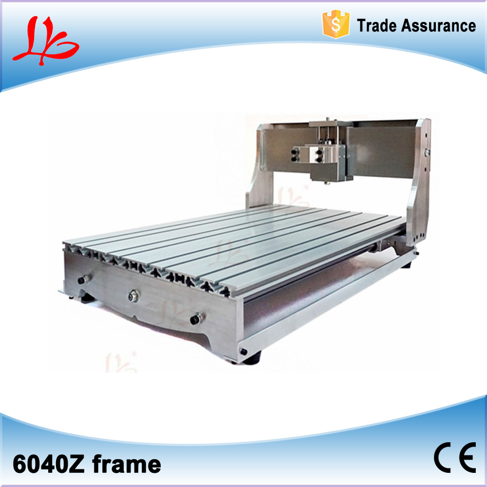 Customized 6040Z CNC frame kit rack with bed ball screw optical axis bearing and spindle clamp holder cnc frame kit cnc 3020z diy frame with ball screw optical axis and bearings for cnc milling machine