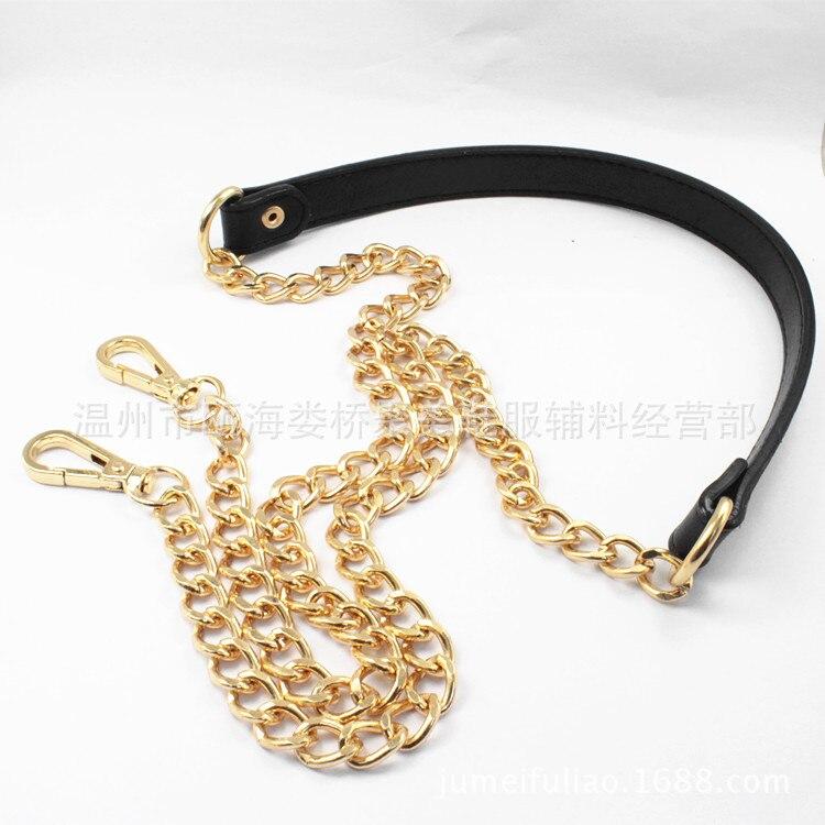 Ladies bag chain accessories metal PU leather decompression belt fashion oblique shoulder