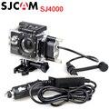 Sjcam sj4000 waterproof case + carregador c ar para ação motocicleta Casos Saco para SJ4000 câmera Série/SJ4000 WiFi/SJ4000 Mais