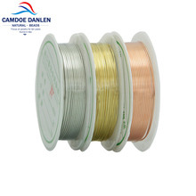 0.2/0.3/0.5/0.8/1MM 1 Roll Craft copper wire plated Golden Silver Primary Beading Jewelry DIY Bracelet Earring Handiwork Making