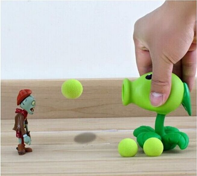 hotsell Plants vs zombies PVC Action Figure Model Toy Peashooter creative Gifts plant vs zombi  2 Pea shooter Anime toys whole  3 8cm plants vs zombies action figure toy pvc plants vs zombies figure model toys for children collective brinquedos