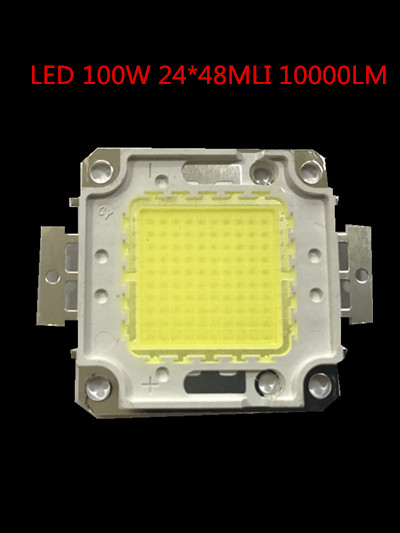 20PCS/ LED 100W Integrated High Power Lamp Beads Tetragonum White/Warm White 30V 10000LM 24*48mil Epistar Chip Good For Street