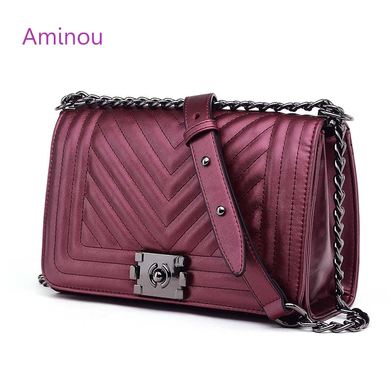 High Quality Fashion Women Messenger Bags Brand Design Ladies Chain Shoulder Bag Blue Pearl Leather Geometric Handbag For Girl famous brand high quality handbag simple fashion business shoulder bag ladies designers messenger bags women leather handbags