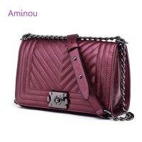 High Quality Fashion Women Messenger Bags Brand Design Ladies Chain Shoulder Bag Blue Pearl Leather Geometric Handbag For Girl