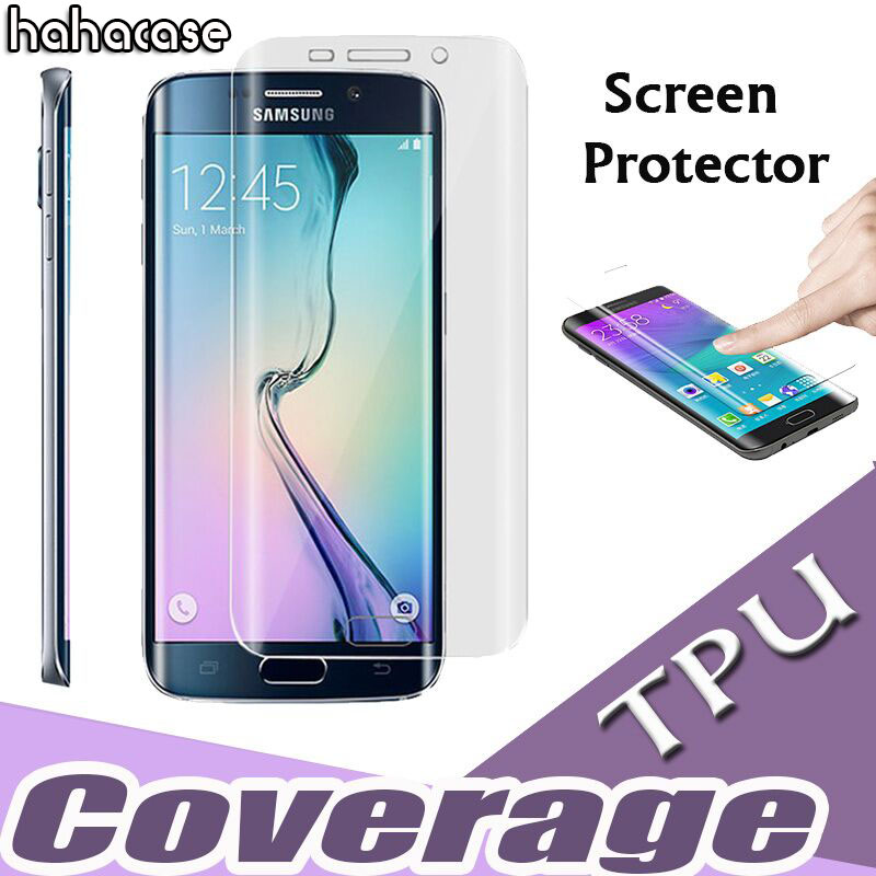 100pcs Full Coverage Curved Clear Soft TPU Anti Scratch Screen Protector For Samsung Galaxy S9 8