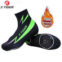 X-TIGER Winter Thermal Cycling Shoe Cover Sport Mans MTB Bike Shoes Covers Bicycle Overshoes Cubre Ciclismo For Man