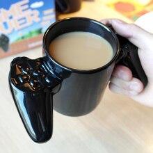 Neue hochwertige Japan kreative keramik-tasse spiel griff becher personalisierte form kaffee milch tee tassen liebhaber geschenk schwarz