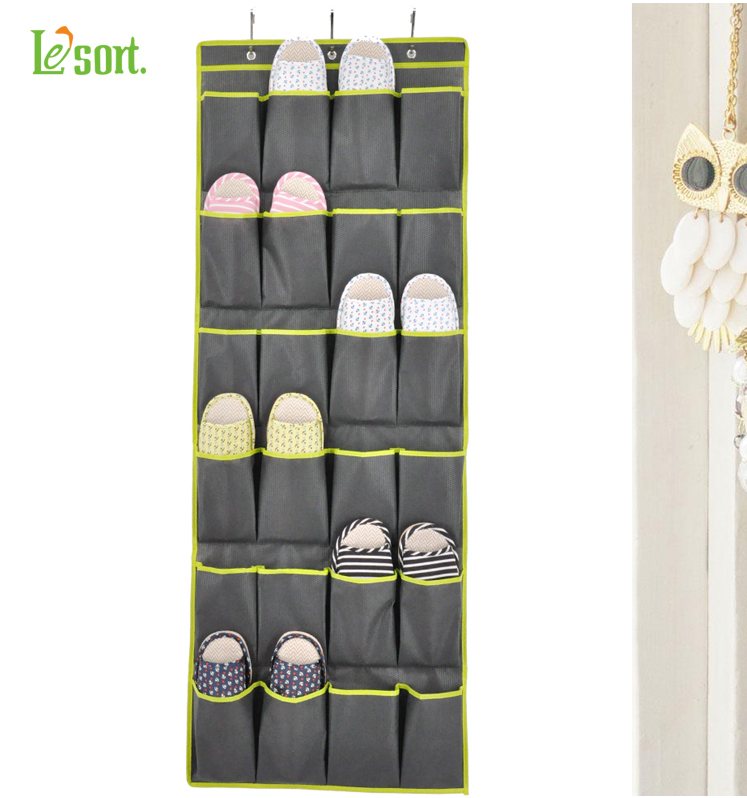 [DROPSHIPPING AVAILABLE] Over the Door Shoe Organizers 24 Pocket Hanging Shoe Organizer and Storage Unit Behind Door Space Saver saver     - title=