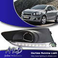 One-stop shopping para drl chevrolet aveo barina 2011-2014 sonic led drl daytime running luz fog lamp acessórios automotivos