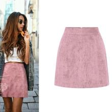 Новинка года; розовая юбка для девочек; винтажная замшевая трапециевидная облегающая юбка в стиле арт-Ампир; Однотонный светильник; цвет коричневый, бордовый; Милая женская розовая юбка для отдыха; s