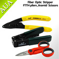 FTTH Fiber optic Tool Sets Fiber Optic Stripper with Cable Striping Plier and Slip-resistant Scissors