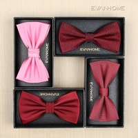 2017 New Fashion Groom Wedding Party Bowtie Men's Marry Wine Red Pink Bow Tie Club Banquet Anniversary Butterfly Tie Gift Box