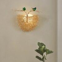 Bedroom Lamp LED Wall Light Fixtures Creative Bird's Nest Arandela Aluminum Sconce Lamps Home Lighting Wandlamp Bar Aplik Pared