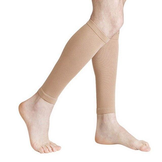 1 par de calcetines de compresión graduados elásticos hasta la rodilla calcetines ortopédicos calcetines de circulación de presión firme calcetines de soporte de pantorrilla elástica