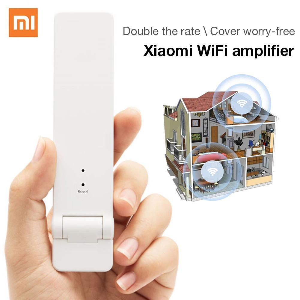 Original Xiaomi WiFi Amplifier Pro Router 300M Network Expander Repeater Power Extender Roteador 2 Antenna For Mi Router Wi-Fi