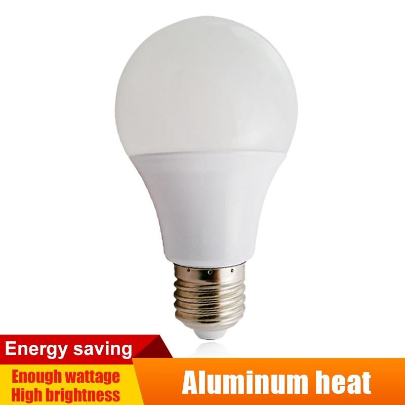 E27/B22 Led Lamp 110V/130V/220V/240V/Actual Power Aluminum Board Bulb CoolWarm White Light Domestic LED Globe