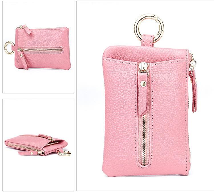 Women genuine leather key wallet 10-5
