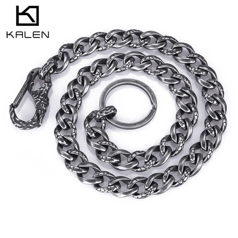 KALEN Punk 58cm Stainless Steel Brushed Snake Chain Necklaces For Men Top Quality Male Heavy Chunky Link Chain Necklace Jewelry крючок akara sw 1123 1 универсальный 10 10шт универсал