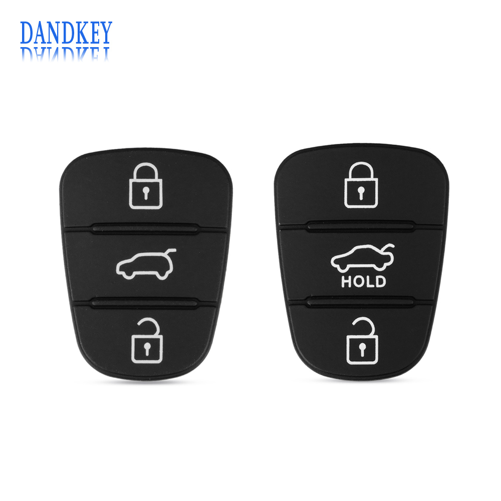 Dandkey 3 Buttons Rubber Pad Key Shell For Hyundai I30 IX35 Kia K2 K5 New Replacement Flip Remote Car Key Fob Case Cover maizhi 3 button flip folding car key shell for hyundai avante i30 ix35 kia k2 k5 sorento sportage key cover case styling