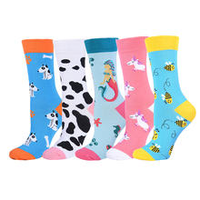 Animal socks cartoon woman bee mermaid fruit happy funny cute hip hop womens