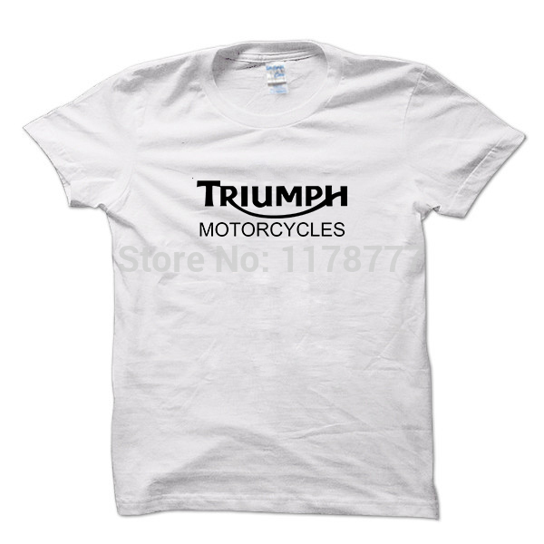 52e6df57f 2016 Classic TRIUMPH MOTO T Shirt Uomo 100% Cotone Manica Corta T Shirt  Nuova Estate di Buona Qualità che coprono il trasporto libero in 2016  Classic ...