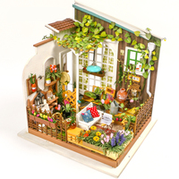 3D Puzzle Kawaii Diy Dollhouse Miniature Handmade Furniture Sunshine Garden House Furniture Model Kit Dollhouse Toys Kids Gifts