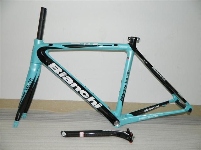sky blue carbon fiber road bike Bianchi frame with many colors for ...